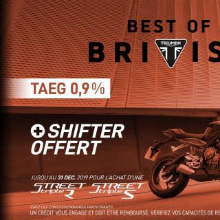 Offre TAEG 0,9% + SHIFTER STREET TRIPLE